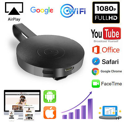 Für Google Chromecast 2 Digital HDMI Media Video Streamer WiFi 1080P TV Dongle