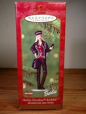 Hallmark 2000 Barbie Harley Davidson Motorcycles Christmas Ornament. NEW&SEALED!