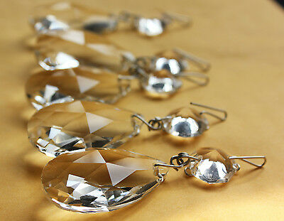 20 Lot Chandelier Crystal Lamp Prisms Part 1.5'' Glass Drop Silver Hanging Wx1-1