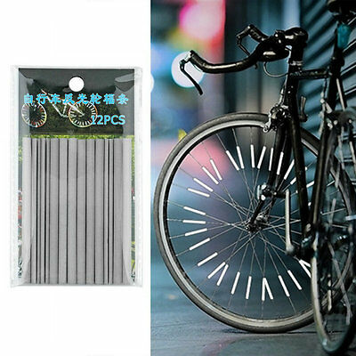 12x Bicycle Wheel Spoke Reflector Reflective Mount Clip Tube Bike Warning Str