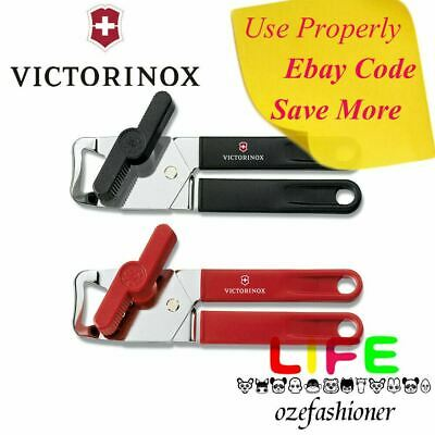 Victorinox Universal Can Opener Stainless Steel Made in Swiss Black/Red IS