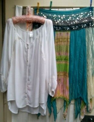 Lovely Gypsy/Peasant style Shirt & GORGEOUS Gypsy Skirt Size 20