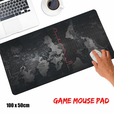 Large 1000*500*2MM World Map Speed Game Mouse Pad Mat Laptop Gaming Mousepad #ts