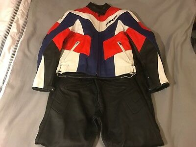New other Dainese leather 2 piece jacket and trousers size 46