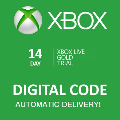 Instant Delivery Xbox Live 14 Day Gold Trial Membership Xbox One/Xbox 360