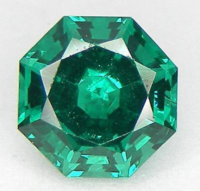 30% Off Excellent Cut Square Octagon 8 Mm. Lab Created Nanocrystal Emerald
