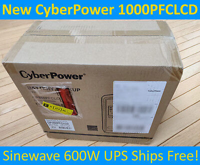 *Brand New CyberPower CP1000PFCLCD UPS- 1000VA/600W True Sinewave Battery Backup