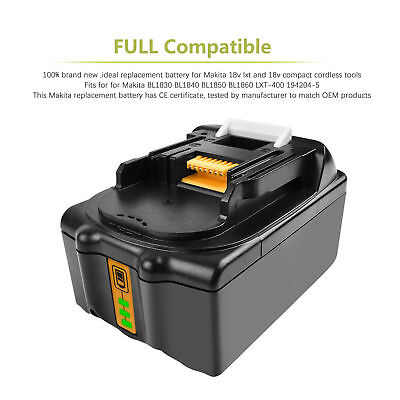 2Pack 18V 4.0AH Lithium-Ion Battery For MAKITA BL1830 BL1815 LXT 400 BL1840 MP