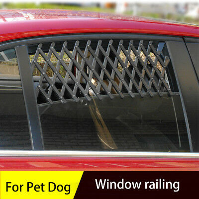 Pet Dog Car Window Ventilation Safe Guard Mesh Vent Protective Fence Easy To Fit