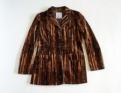 Moschino jacket Cheap & Chic vintage jacket velour velvet in brown jeans dress