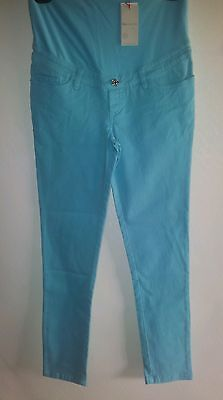 RIPE MATERNITY SKINNY HIPSTER STRETCH CAPRI JEANS PANTS NWT SIZE 6 to 8 XS BLUE