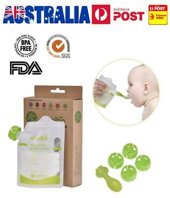 Reusable Sealed Food Pouch 180ml Double Zipper 10-Pack For Baby Yoghurt Puree AU