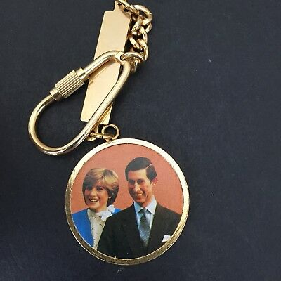 Prince Charles And Lady Diana  Medallion And Keyring