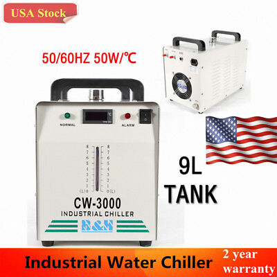 110V Industrial Water Chiller CW-3000 for 60W /80W CO2 Laser Tube Cooler US Ship