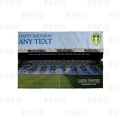 Leeds United FC Official Personalised Together Stadium Birthday Banner LB011