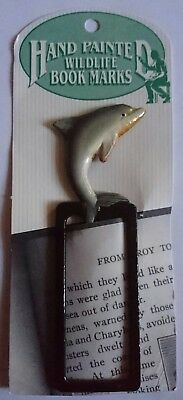 Dolphin Bookmark - Laquered Wood - Look!