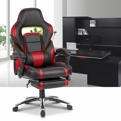Adjustable Office Chair Ergonomic High-Back Faux Leather Racing Style Reclining