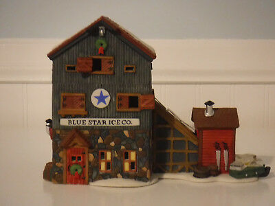 "Dept 56 New England Series ""BLUE STAR ICE CO"" Christmas Village"