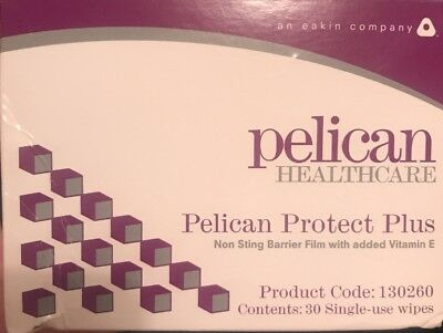 Pelican Healthcare No Sting Barrier Film Stoma Wipe 1ml x 30  *Box sent flat*