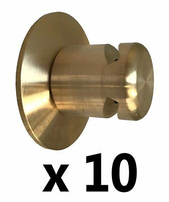 Box of 10 BRASS Boiler Blow Off Valve Caps 15mm End Feed Safety Cowls