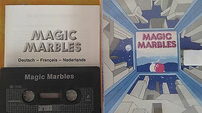 Magic Marbles (Ariola Soft) C 64 Cassette (Tape) (Game, Verpackung, Anleitung)