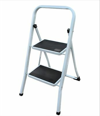 Foldable 2 Step Stepladder with Non-Slip Thread