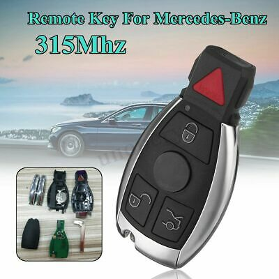 3+1 Buttons 315MHZ Remote Key Fob Keyless Entry w/ Battary For Mercedes-Benz