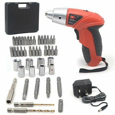 45PC ELECTRIC RECHARGEABLE BATTERY CORDLESS SCREWDRIVER DRILL SET BITS 3N.m
