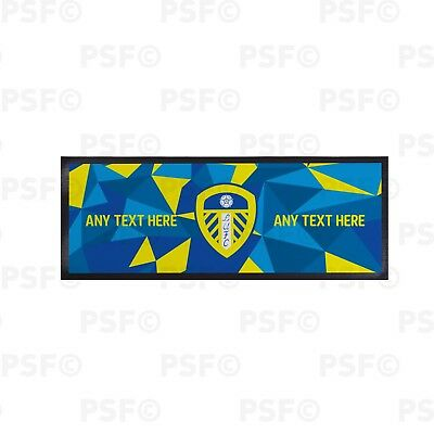 Leeds United FC Official Personalised Crest Triangles Regular Bar Runner LBR007