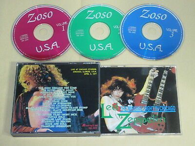 Led Zeppelin - The Missing Night In Chicago / Missing Link / 1977 USA 3CD