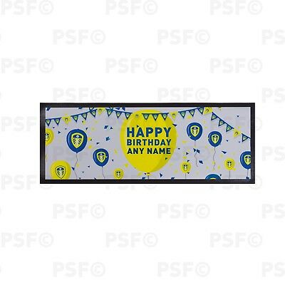 Leeds United FC Official Personalised Happy Birthday Balloons Bar Runner LBR009