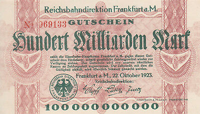 Frankfurt am Main, 100 Milliarden Mark von 1923