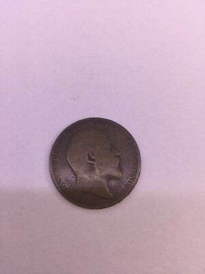1906 Half Penny Of Edward Vii. Very Nice Collectible Coin