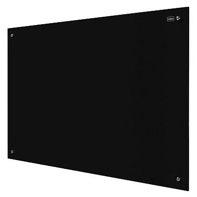 Nobo Diamond Magnetic Dry Wipe Glass Whiteboard with Fixings and Pen Tray - 600