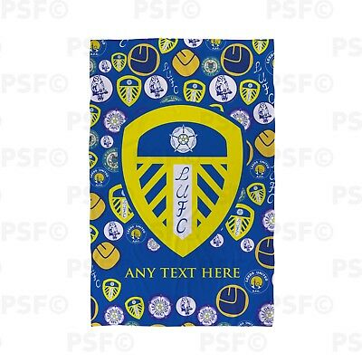 Leeds United FC Official Personalised Retro Badges All Over Beach Towel LBT010