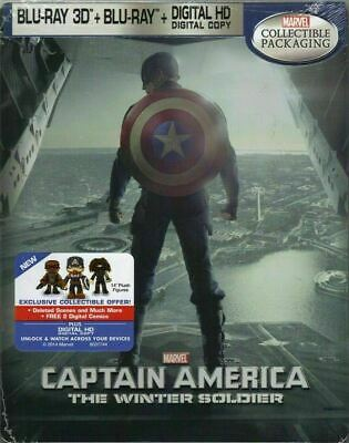 Captain America: The Winter Soldier - Exclusive SteelBook [Blu-ray 3D + Blu-ray]