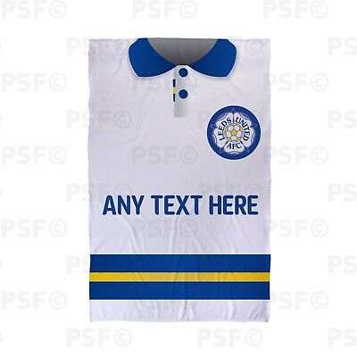 Leeds United FC Official Personalised Retro Shirt White Beach Towel LBT018