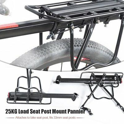 Bicycle Mountain Bike Rear Rack Seat Post Mount Pannier Luggage Carrier GT