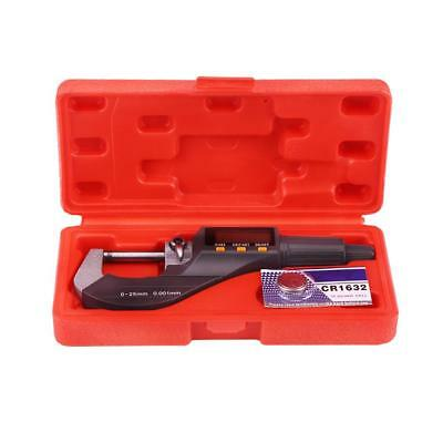 Electronic Digital High Precision Outside Micrometer Thickness Gauge 0-25mm Rang
