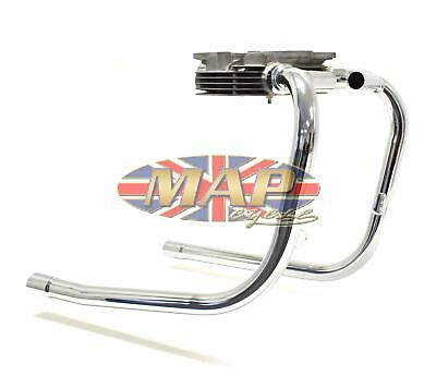 Triumph T100R T100S '69-70 Exhaust Header Pipes Balanced UK Made 70-9662/9663