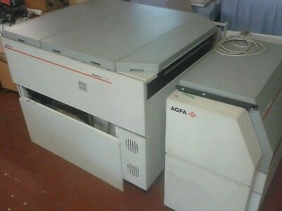Various parts for the Agfa Avantra 30 online imagesetter and processor