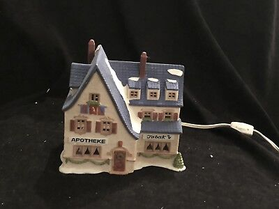 Dept 56 Alpine Village Two Buildings Apotheke And Bakery/Chocolate Shop Perfect