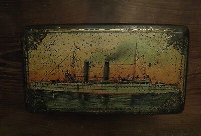 Antique Dutch art nouveau advertising cigar tin from cigars de Arend