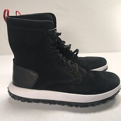 new concept ddd02 abbad NEW UNDER ARMOUR Mens UAS RLT Fat Tire Summer Boots Suede Michelin Sole  Black 10