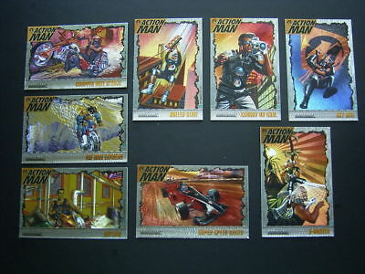 Action Man Collector Cards Set Of 8 Hasbro (E4)