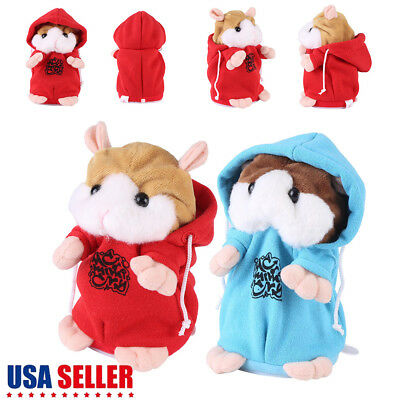 Cute Talking Nod Hamster Mouse Record Chat Mimicry Pet Plush Toy Gift New
