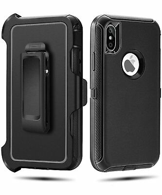 Case Cover For iPhone X  iPhone XS w /Holster Clip Hybrid Shockproof Heavy Duty