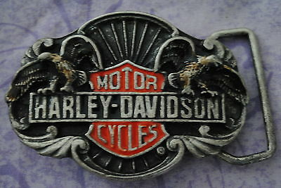 1bb520fe52f5 Ancienne Vintage Biker Boucle Ceinture Harley Davidson Made Usa 1989 Harmony