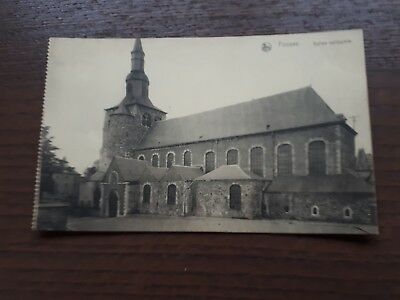 Ancienne Carte Postale Fosses Eglise Collegiale