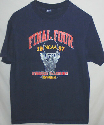 1987 -Syracuse University Orange- Vintage Champion Final Four Basketball T-Shirt